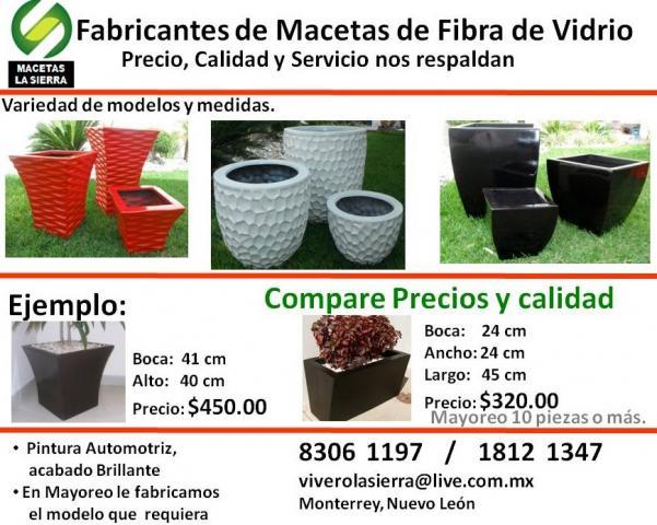 Fotos de macetas fibra de vidrio decoracion en quer taro - Macetas fibra de vidrio ...