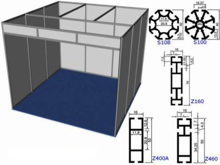 Mi casa decoracion tubos de aluminio cuadrados for Uniones para perfiles cuadrados de aluminio