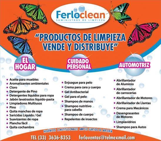Productos de limpieza a granel en zapopan for Anuncios de limpieza