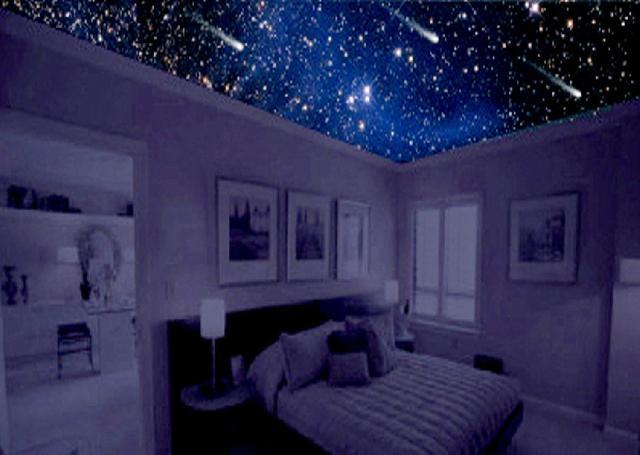 Im genes de universe deco decorar busco estrellas en for Techos de recamaras