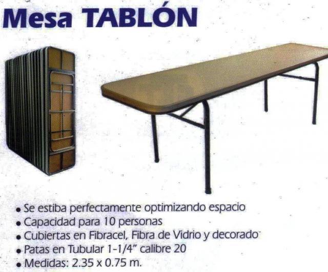 Im genes de venta de sillas y mesas plegables y fijas en for Mesa para 10 personas