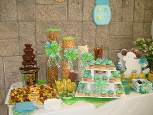 Mesa de botana para baby shower - Imagui