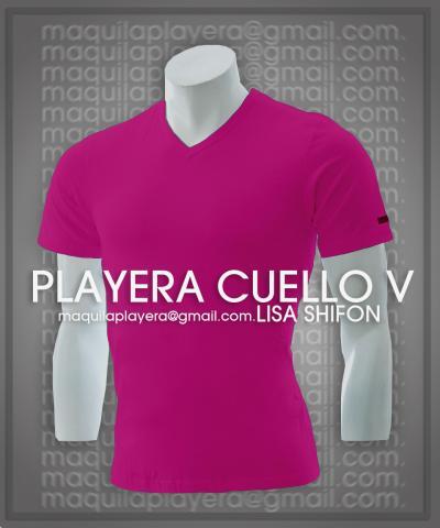 d2e2936f49ca9 Maquiladora de Playera Cuello V en Toluca