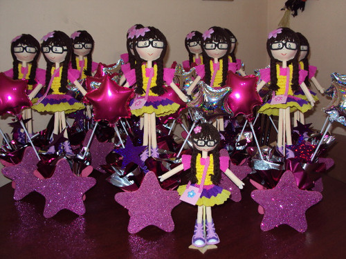 para centros de mesa de princesascampanitaangellina la ballerina y
