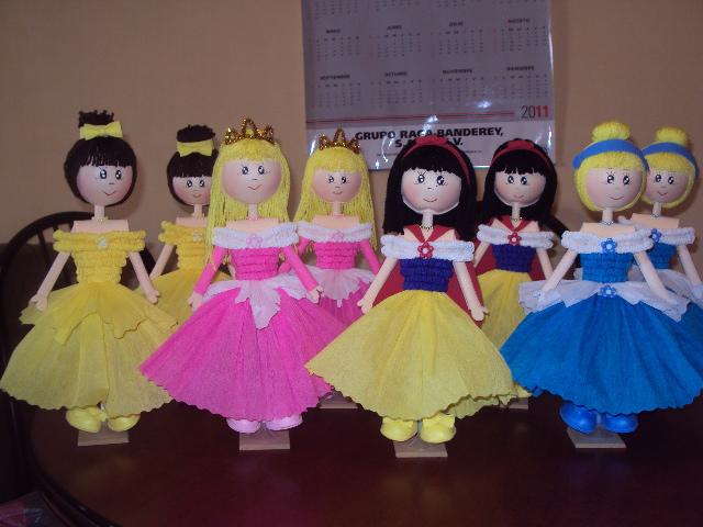 Imágenes de Muñecas para centros de mesa de princesas,campanita