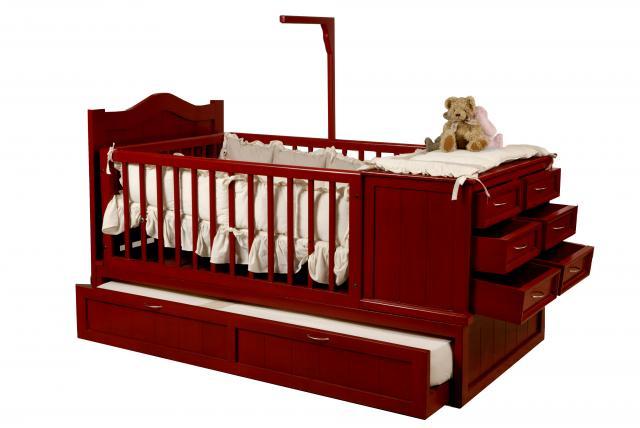Cama cuna corral de madera imagui for Cunas para bebes de madera