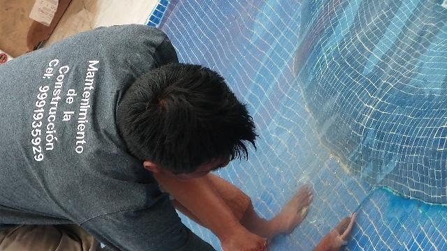 Piscinas sellamos fuga de agua y demas en merida for Construccion de piscinas merida