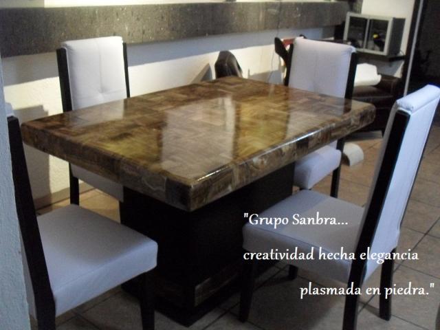 Comedores de onix y marmol directo de frabrica en for Comedores modernos en puebla
