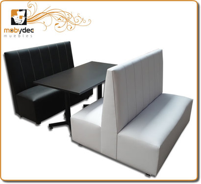Booths sillones para restaurante cafeteria mobydec for Muebles para bar lounge