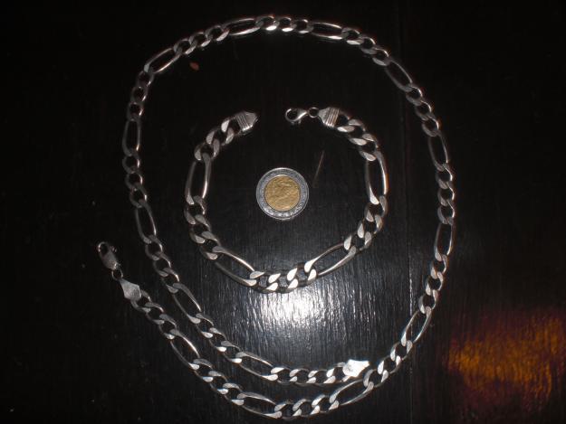 843809b812b7 imagen-1. esclava y cadena de plata original ITALY .925 tipo cartier ...