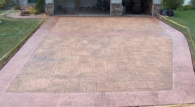 Adoquin de concreto estampado en monterrey Cemento estampado fotos