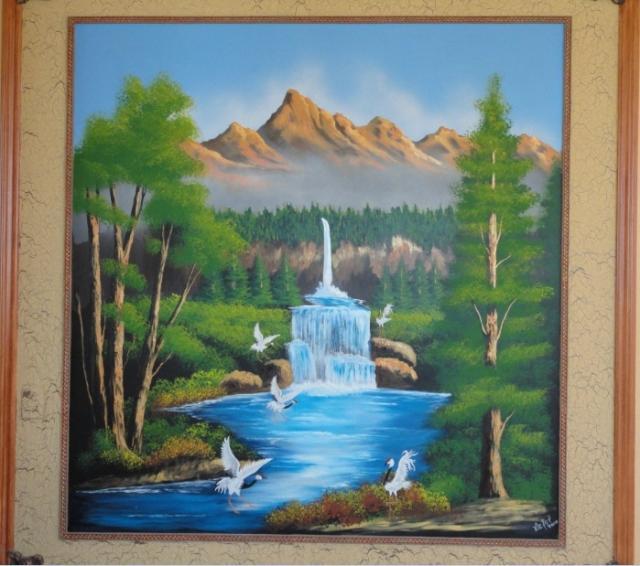 Im genes de pintor especialista en acabados decorativos for Murales decorativos paisajes