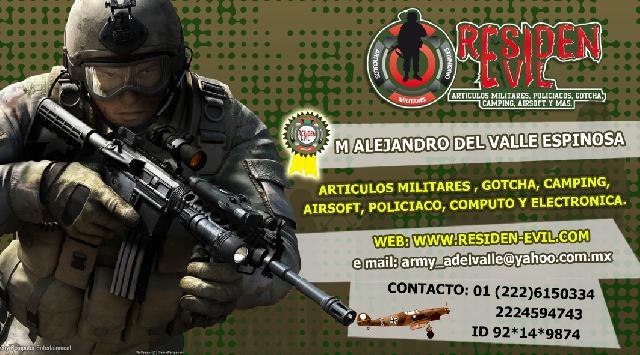 ARTICULOS MILITARES Y POLICIALES ARMY RESIDEN EVIL PUEBLA en Puebla ... bacea7576c7