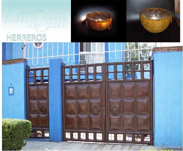 Herreria y hierro forjado en tlalpan for Modelos de portones en hierro forjado