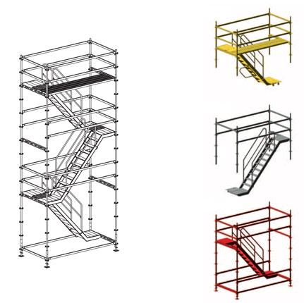 Renta andamios con escalera interna 4 torres 8 metros for Escaleras 8 metros precio