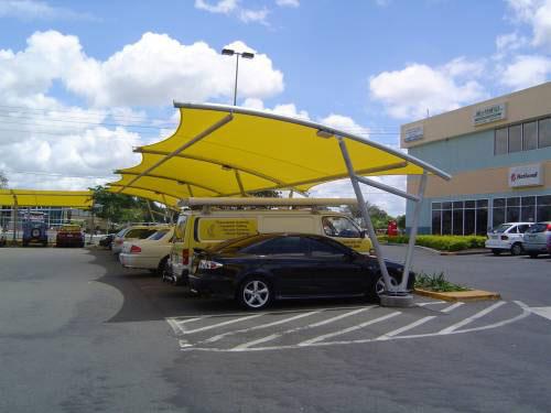 Velarias toldos y cubiertas arquitectonicas en queretaro for Toldos para estacionamiento