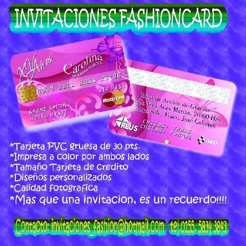 Imágenes De Invitacion Tipo Credencial Pvc En Coacalco De