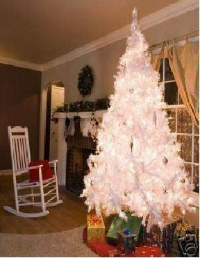 Arboles de navidad blancos con luces importados en mexico for Decoracion para arboles de navidad blancos