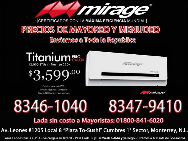 Venta De Climas Mirage En Monterrey Airea Condicionado