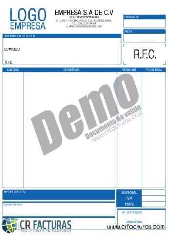 Formatos de factura cfdi car interior design for Diseno de facturas