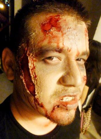 Maquillajes de terror con efectos de zombi en texcoco - Efectos opticos de miedo ...