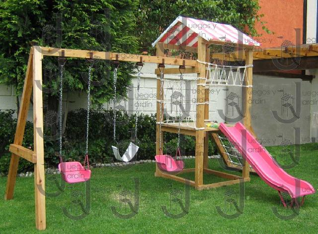 Juegos en madera metal y pl stico en a obreg n - Casetas de madera infantiles ...