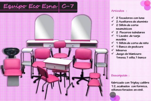 Muebles para esteticas y salones de belleza economicos en for Accesorios para salon de belleza
