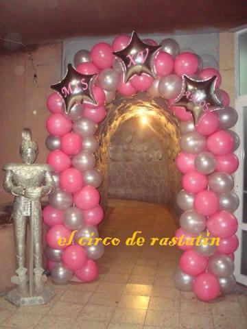 Im genes de decoracion con globos para xv a os en tlalpan for Decoracion de globos para xv anos