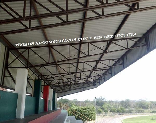 Tamsa techos arcometalicos con y sin estructura en tuxtla for Techos sin estructura para casa