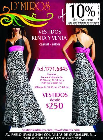 Renta Y Venta De Vestidos De Fiesta Dmiros En Guadalupe