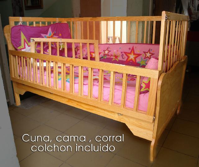 Cuna cama corral en guadalajara for Cunas para bebes de madera
