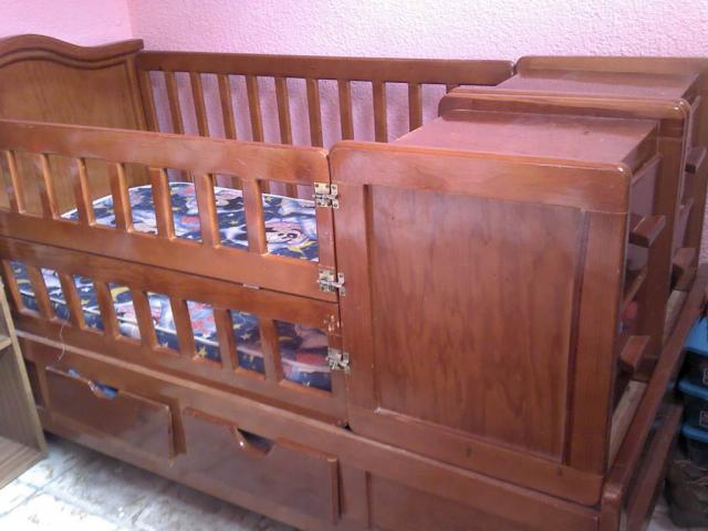 Cuna cama de madera con colchon en san luis potosi - Cama cuna en madera ...