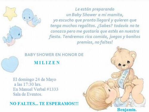 Mensajes para tarjeta de invitación baby shower - Imagui