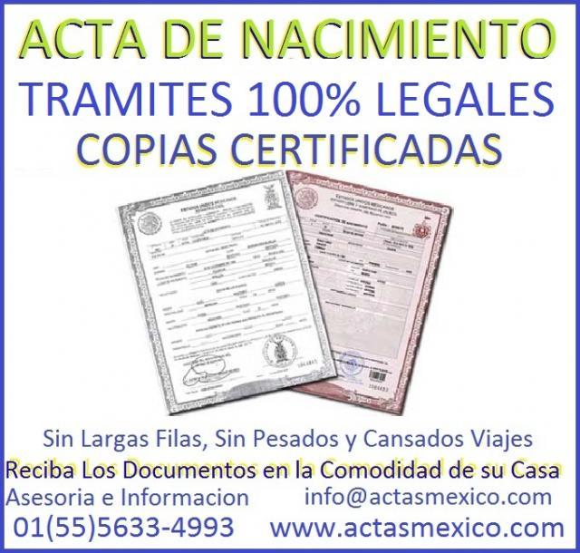 Imágenes de Actas de Nacimiento, D.F., Foraneas, Guanajuato ...