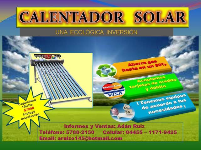 Pumps tubos termo boiler ficha tecnica de calentador solar for Termo solar precio