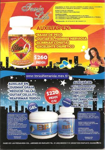 Tonic life productos para adelgazar en la noche