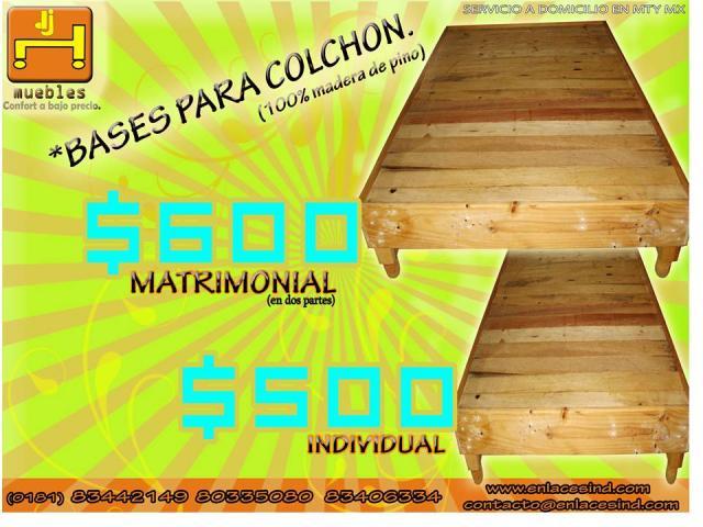 Base de madera para colchon en monterrey - Base para colchon viscoelastico ...