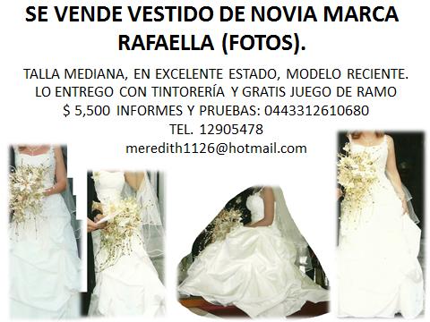 se vende vestido de novia rafaella en guadalajara
