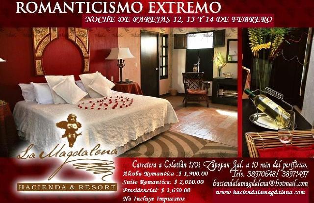 Tinas De Baño Romanticas:14 FEBRERO 2010 ROMANTICISMO EXTREMO HOTEL HACIENDA LA MAGDALENA en